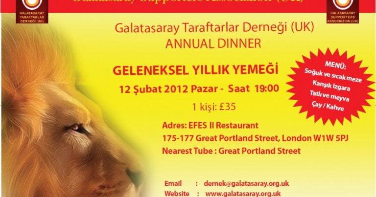 Annual Dinner - 12 February 2012